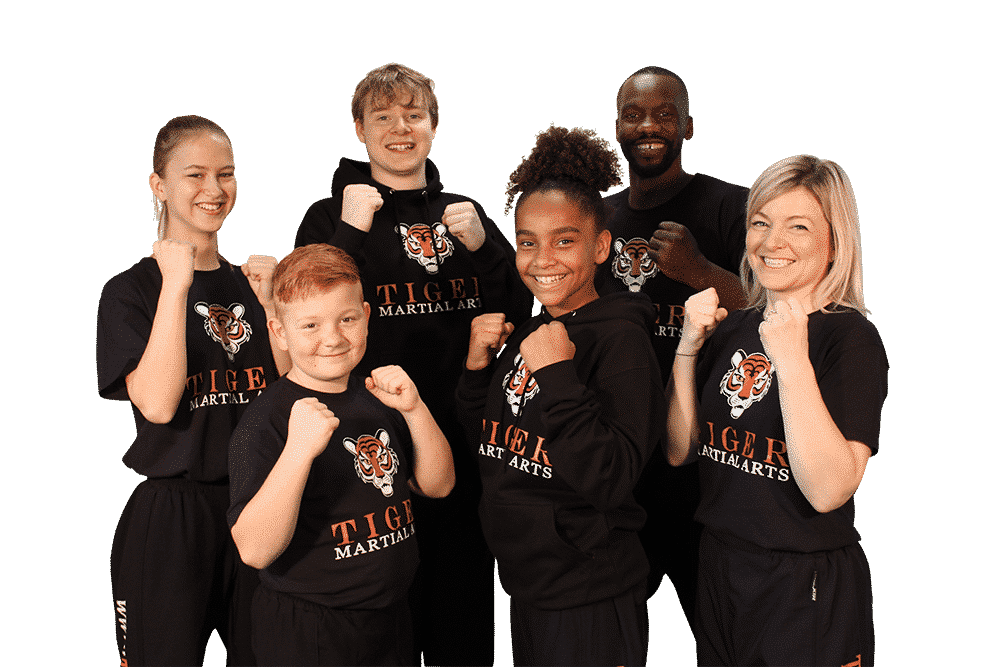 A picture of a Tiger Martial Arts class in Oxford.